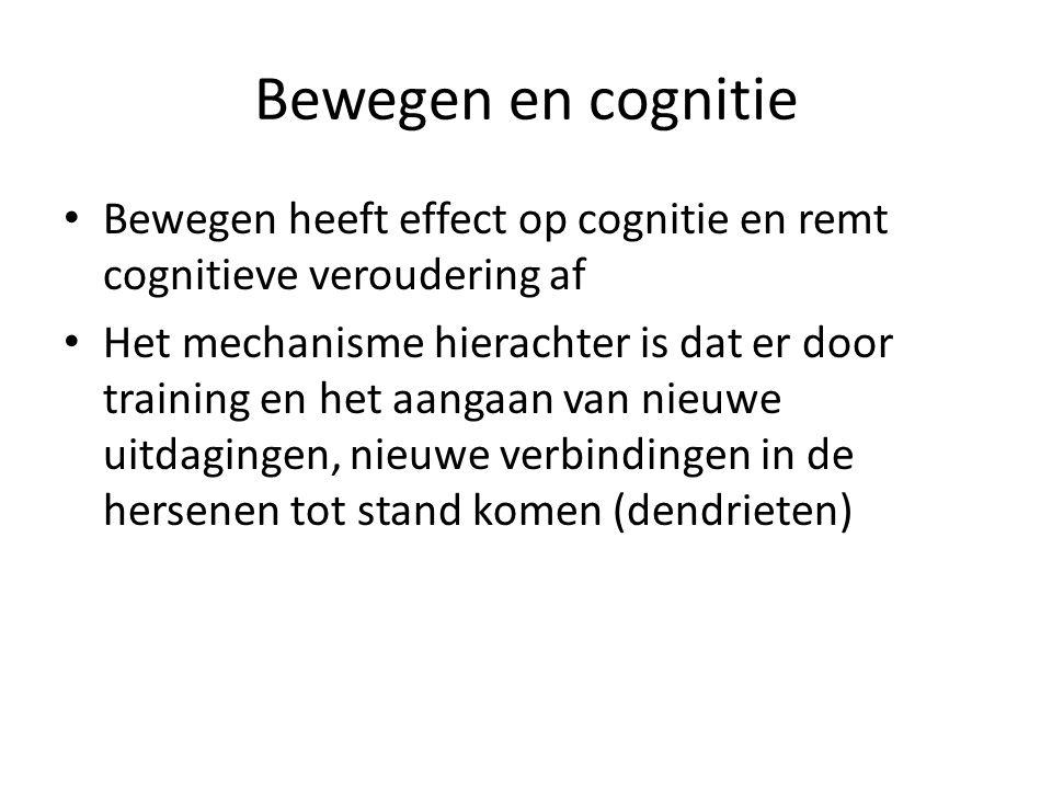 Bewegen en cognitie Bewegen heeft effect op cognitie en remt cognitieve veroudering af.