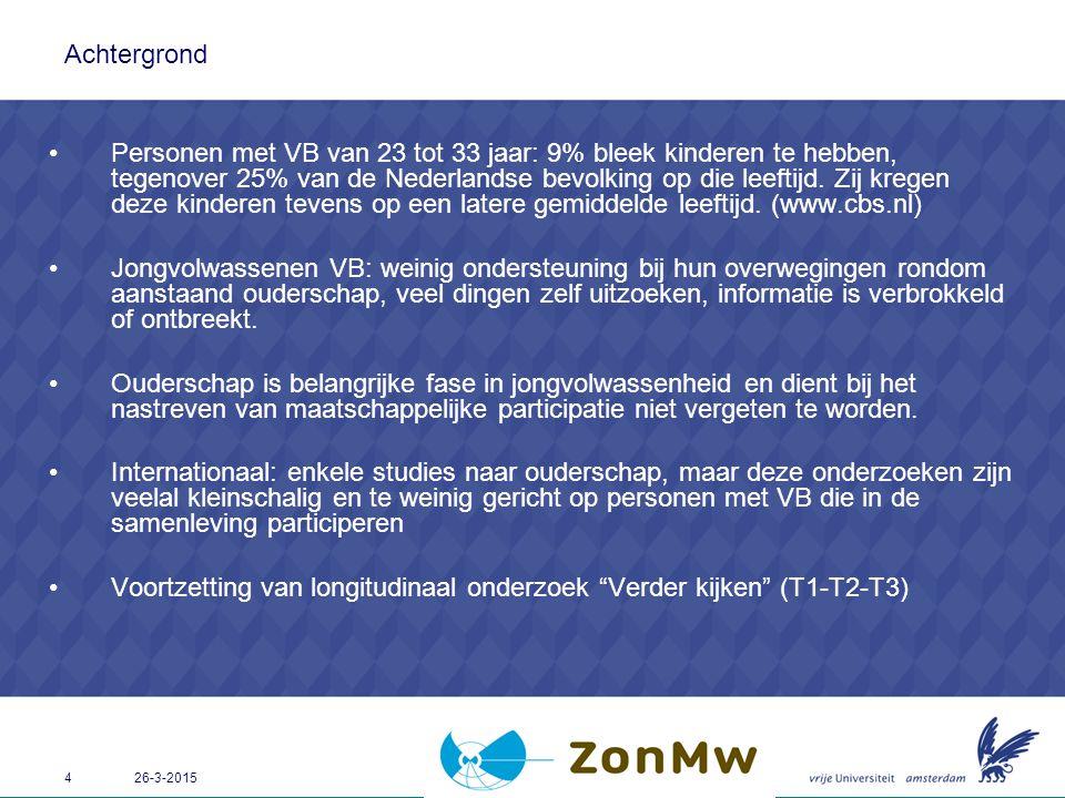 Voortzetting van longitudinaal onderzoek Verder kijken (T1-T2-T3)