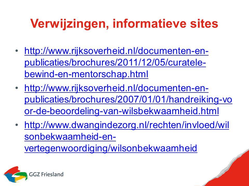 Verwijzingen, informatieve sites