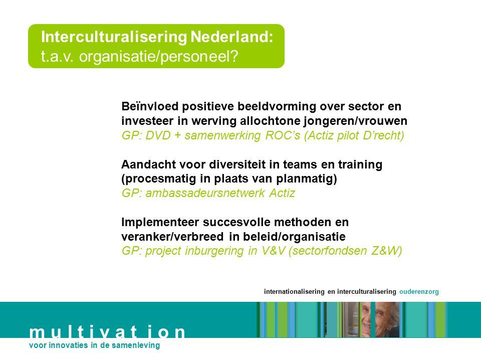 Interculturalisering Nederland: t.a.v. organisatie/personeel