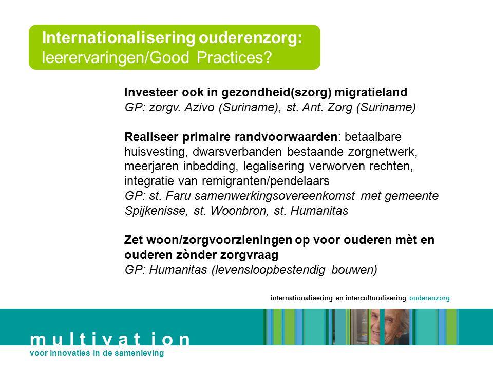 Internationalisering ouderenzorg: leerervaringen/Good Practices