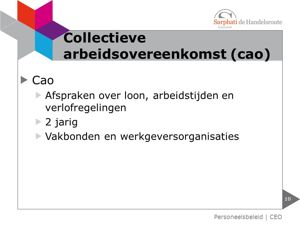 Collectieve arbeidsovereenkomst (cao)