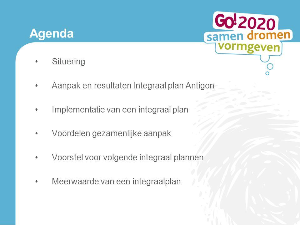 Agenda Situering Aanpak en resultaten Integraal plan Antigon