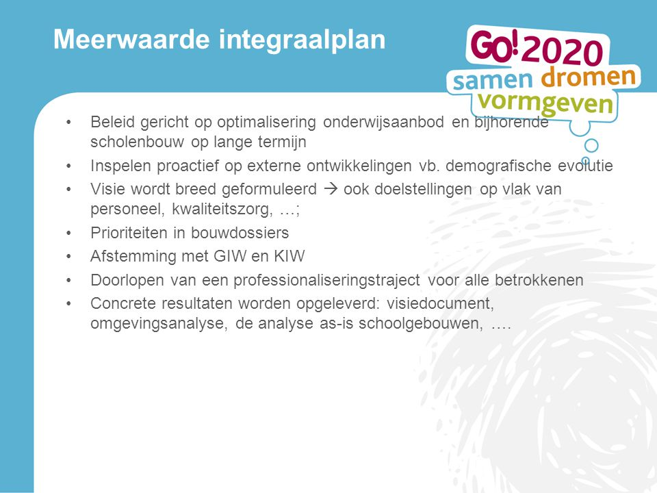 Meerwaarde integraalplan