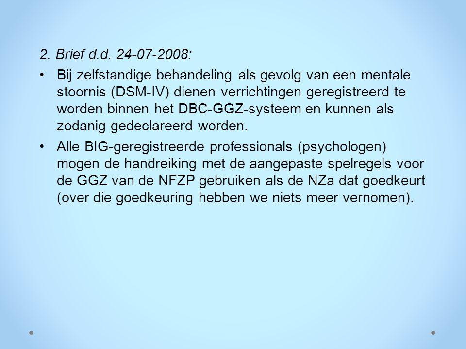 2. Brief d.d. 24-07-2008: