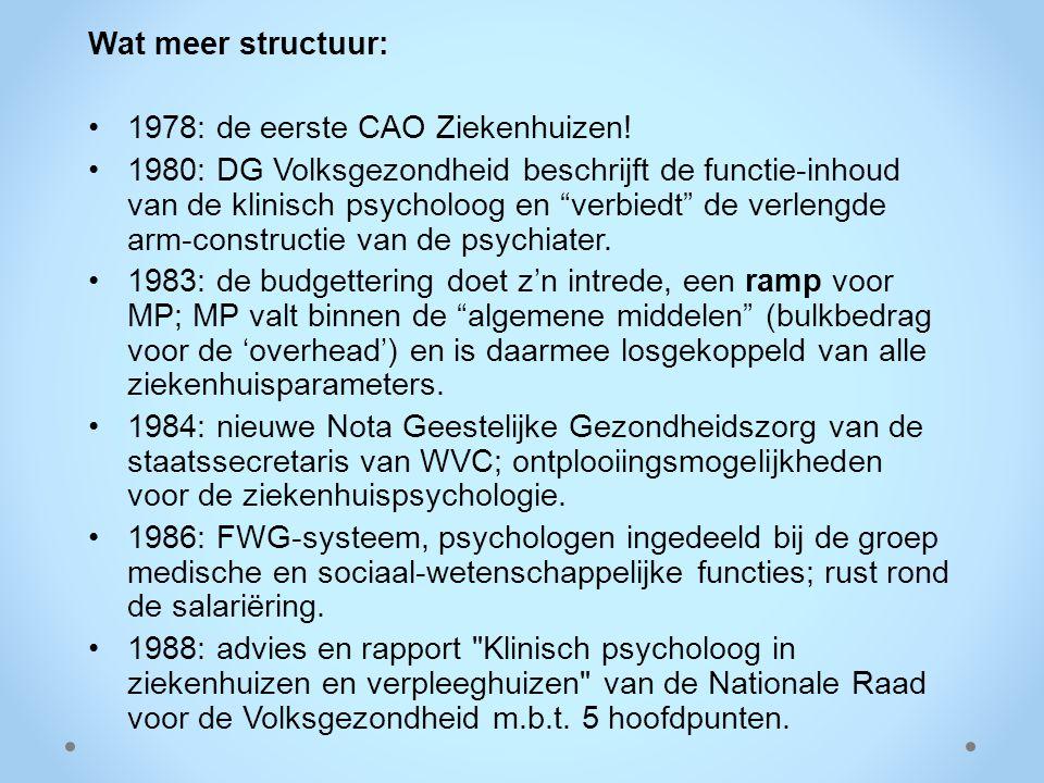 Wat meer structuur: 1978: de eerste CAO Ziekenhuizen!