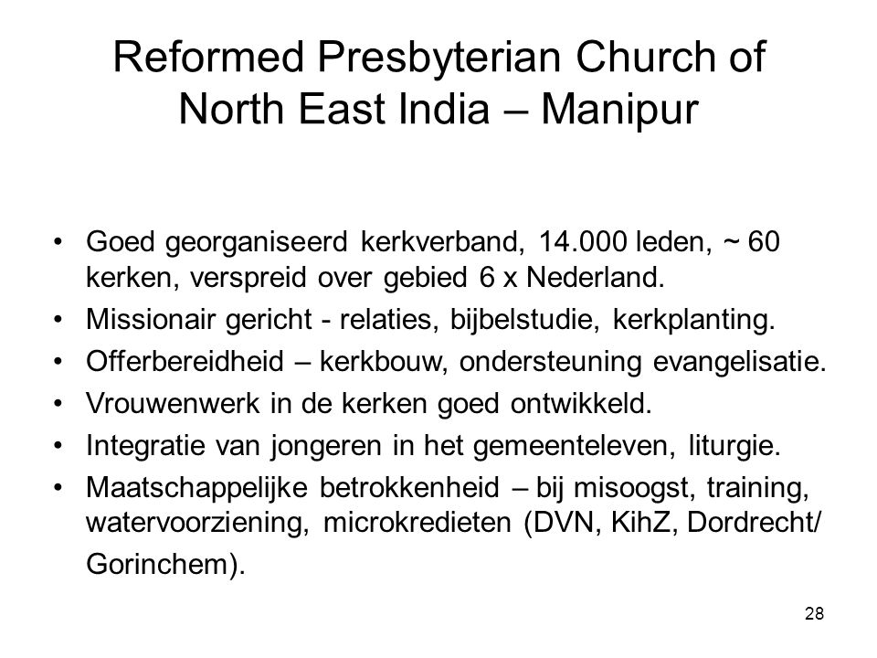 Reformed Presbyterian Church of North East India – Manipur