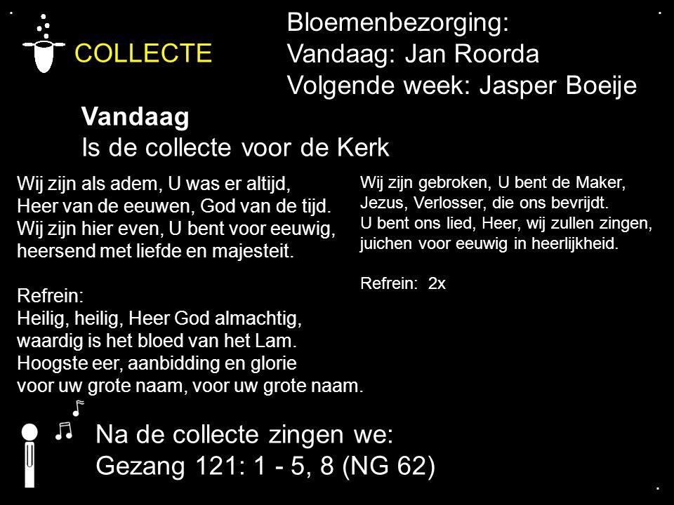 COLLECTE Bloemenbezorging: Vandaag: Jan Roorda