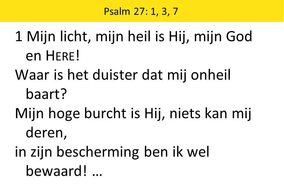 1 Mijn licht, mijn heil is Hij, mijn God en Here!