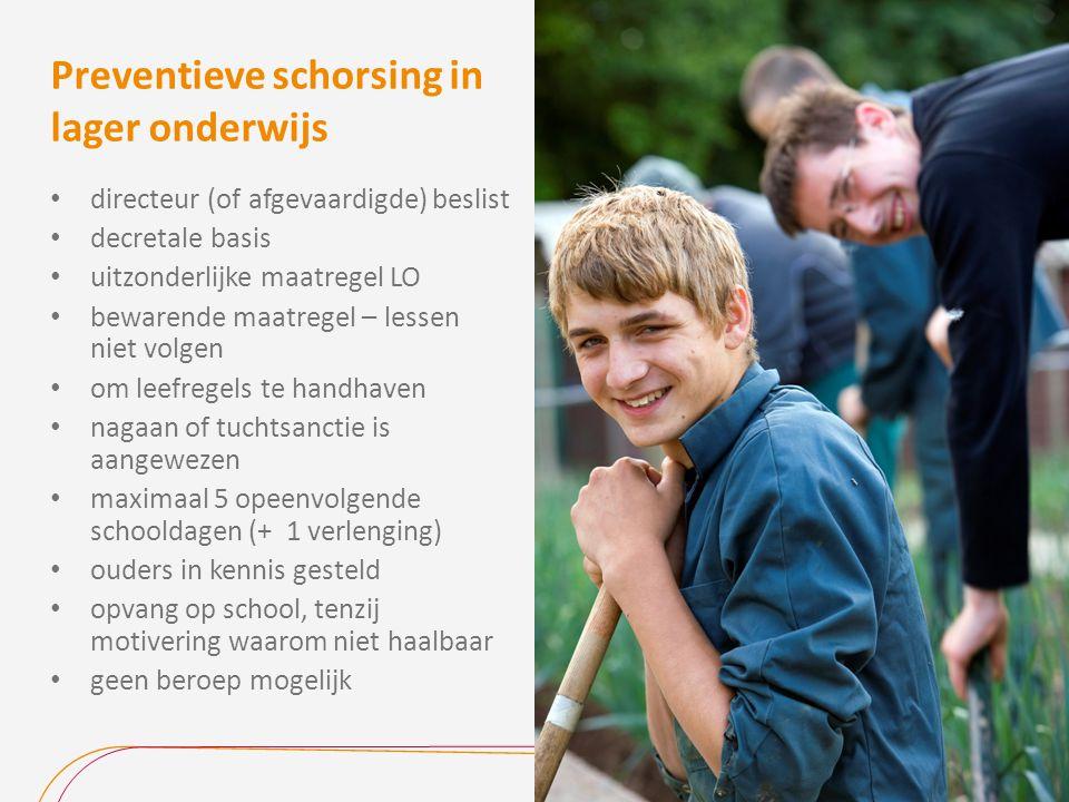 Preventieve schorsing in lager onderwijs