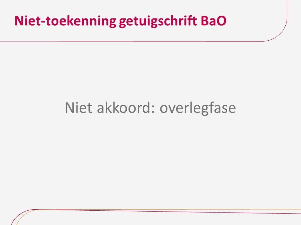 Niet-toekenning getuigschrift BaO