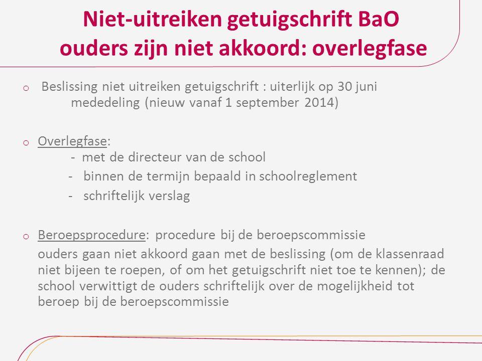 Niet-uitreiken getuigschrift BaO ouders zijn niet akkoord: overlegfase