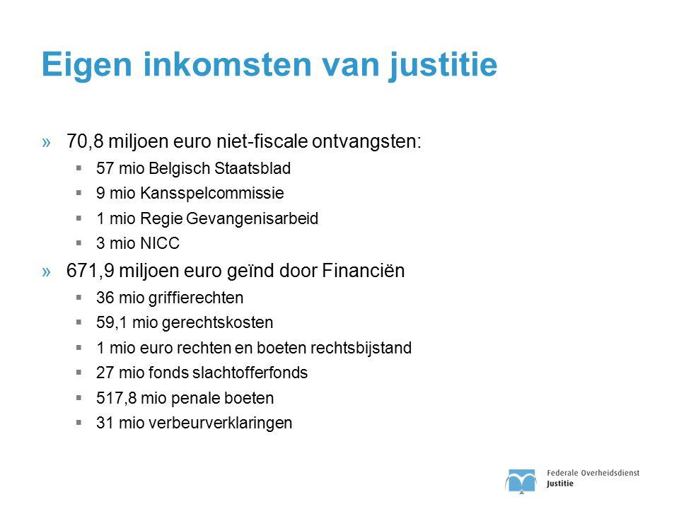 Eigen inkomsten van justitie