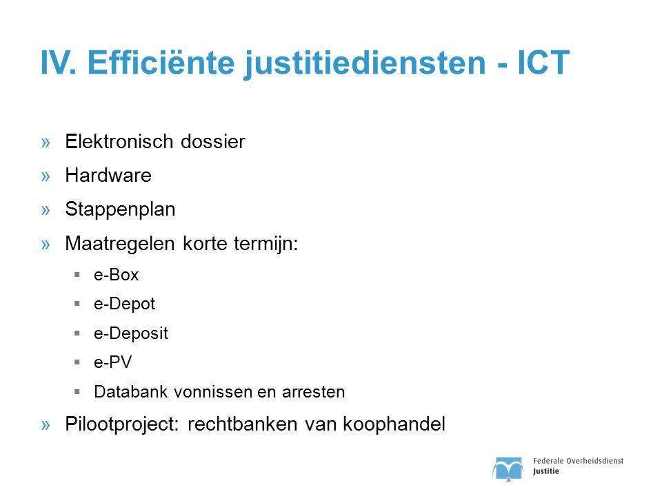 IV. Efficiënte justitiediensten - ICT
