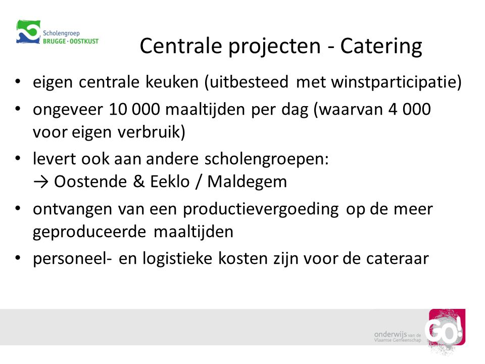 Centrale projecten - Catering