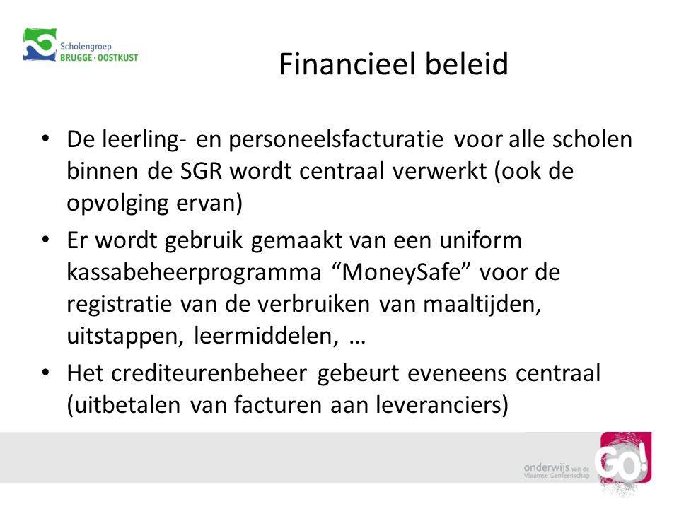 Financieel beleid De leerling- en personeelsfacturatie voor alle scholen binnen de SGR wordt centraal verwerkt (ook de opvolging ervan)