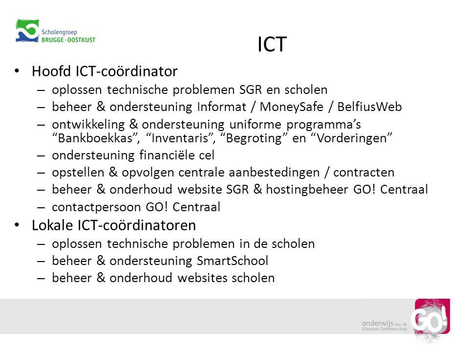 ICT Hoofd ICT-coördinator Lokale ICT-coördinatoren