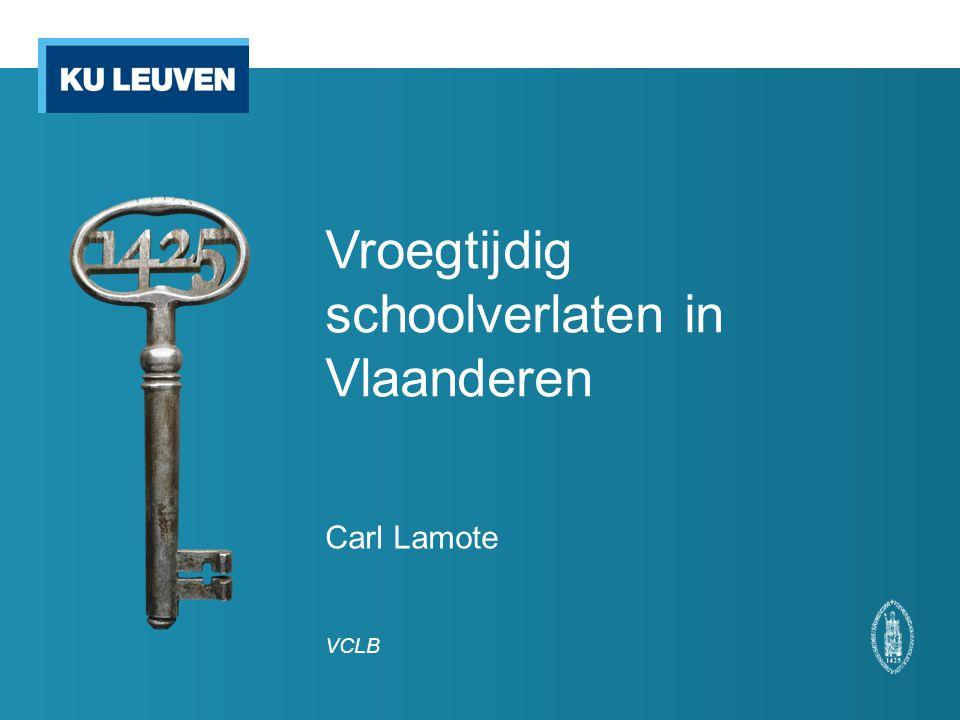 Vroegtijdig schoolverlaten in Vlaanderen