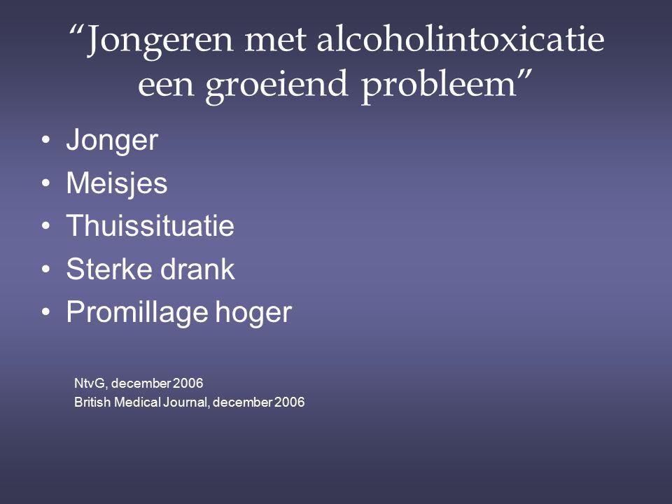 Jongeren met alcoholintoxicatie een groeiend probleem