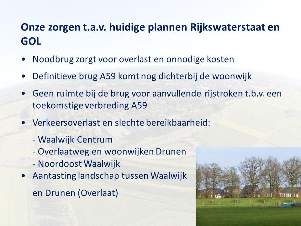 Onze zorgen t.a.v. huidige plannen Rijkswaterstaat en GOL