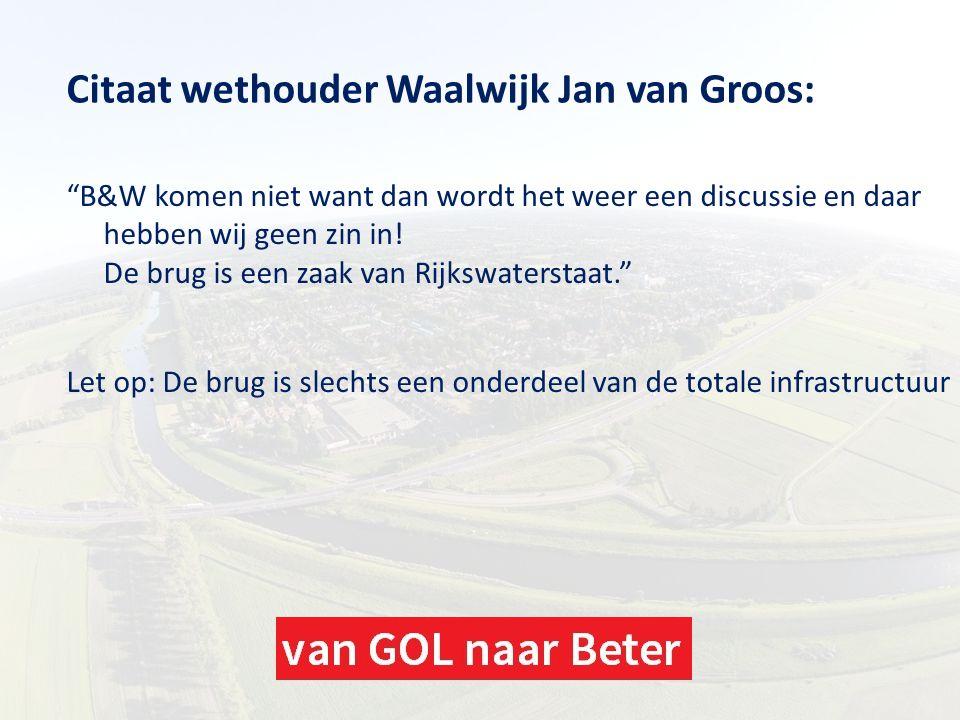 Citaat wethouder Waalwijk Jan van Groos: