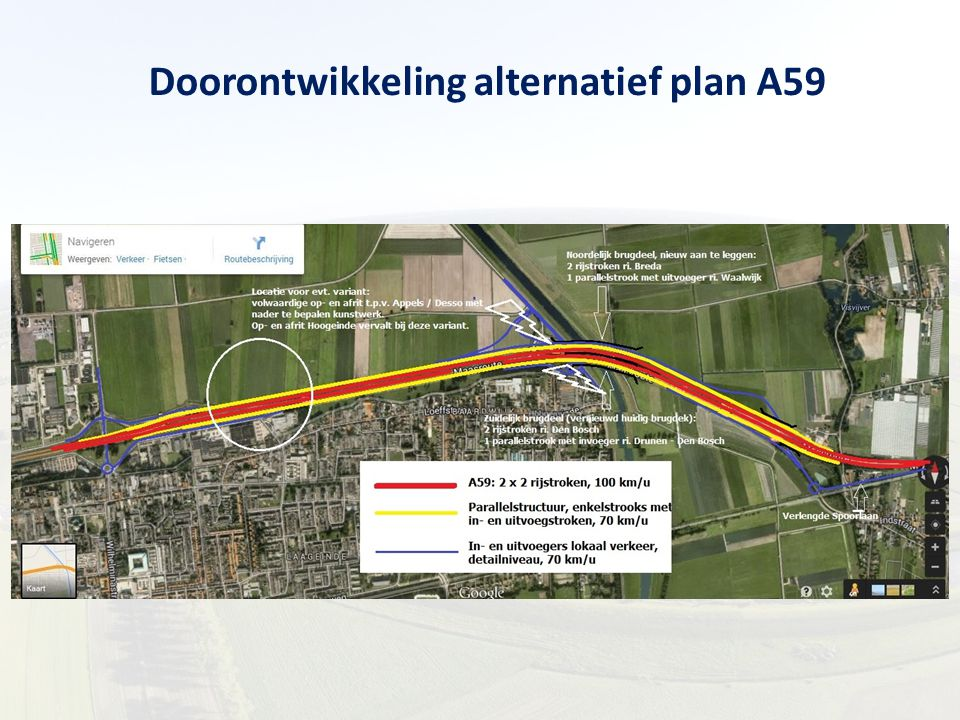 Doorontwikkeling alternatief plan A59