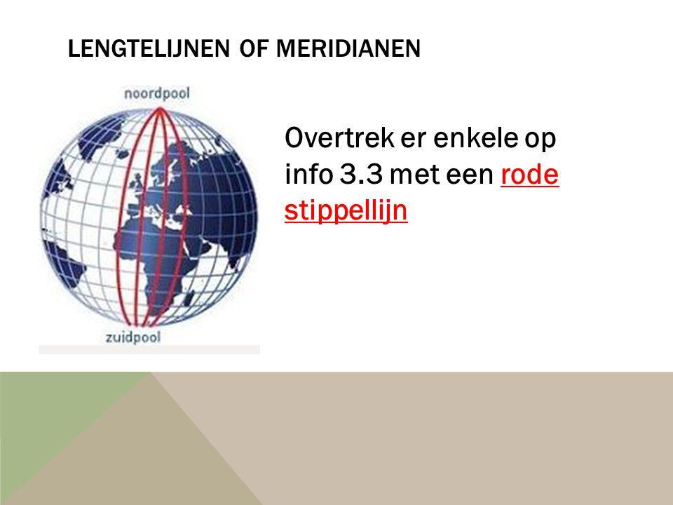 Lengtelijnen of meridianen