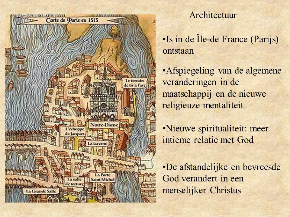 Architectuur Is in de Île-de France (Parijs) ontstaan.