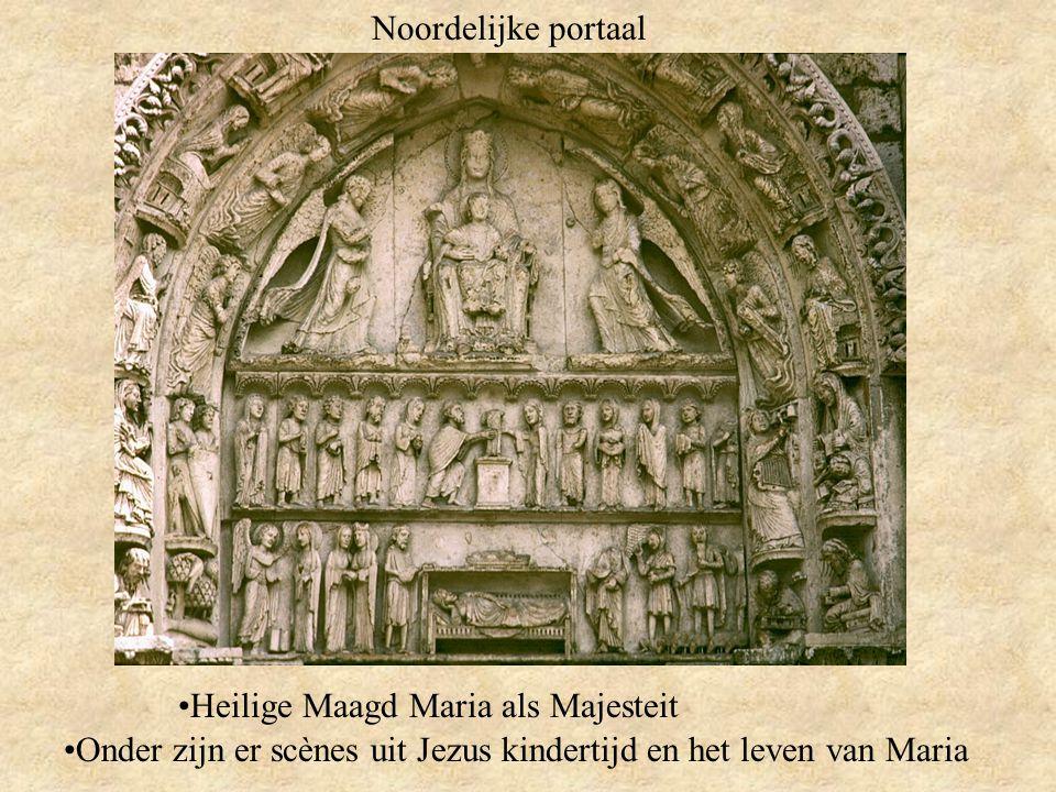 Noordelijke portaal Heilige Maagd Maria als Majesteit.