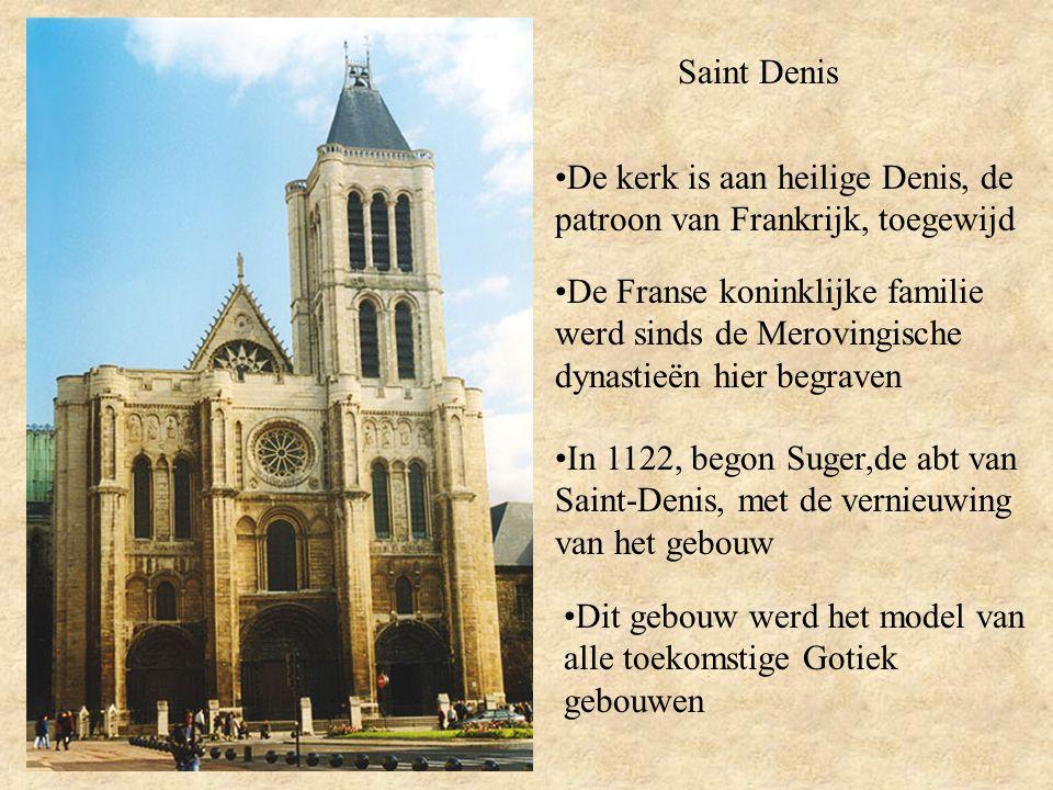 Saint Denis De kerk is aan heilige Denis, de patroon van Frankrijk, toegewijd.