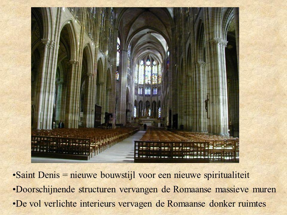 Saint Denis = nieuwe bouwstijl voor een nieuwe spiritualiteit