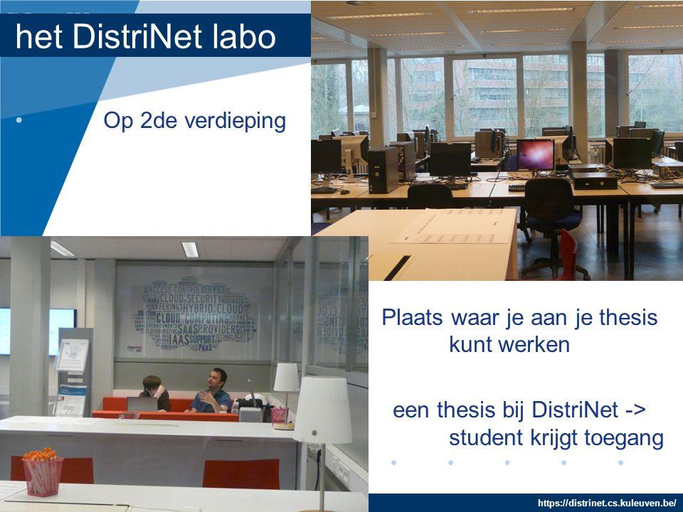 het DistriNet labo Op 2de verdieping