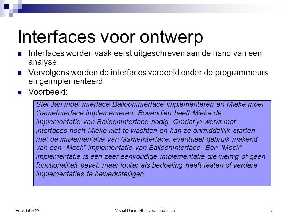 Interfaces voor ontwerp