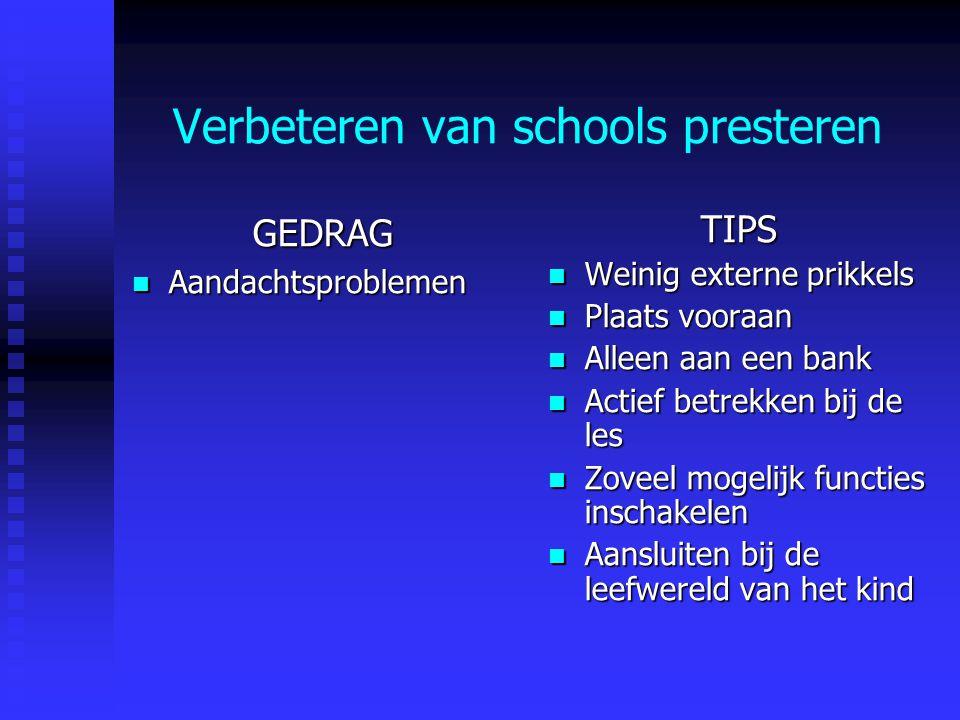 Verbeteren van schools presteren