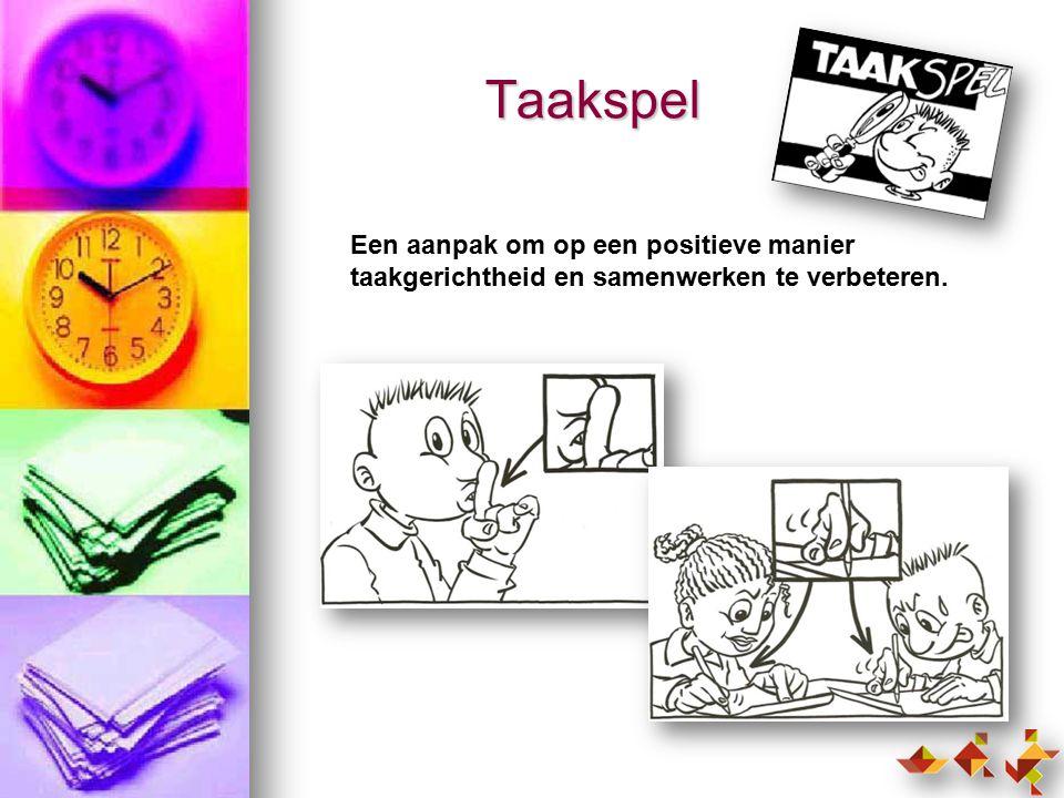 Taakspel Een aanpak om op een positieve manier taakgerichtheid en samenwerken te verbeteren.