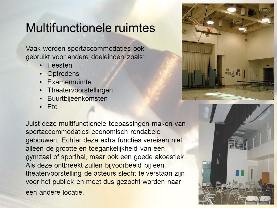 Multifunctionele ruimtes