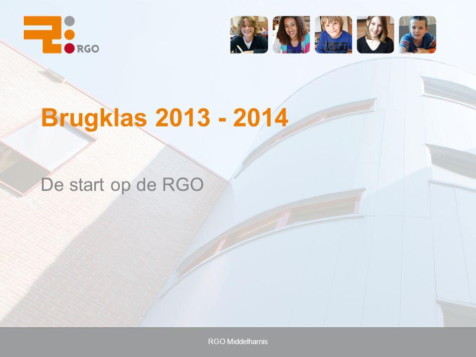 Brugklas 2013 - 2014 De start op de RGO RGO Middelharnis