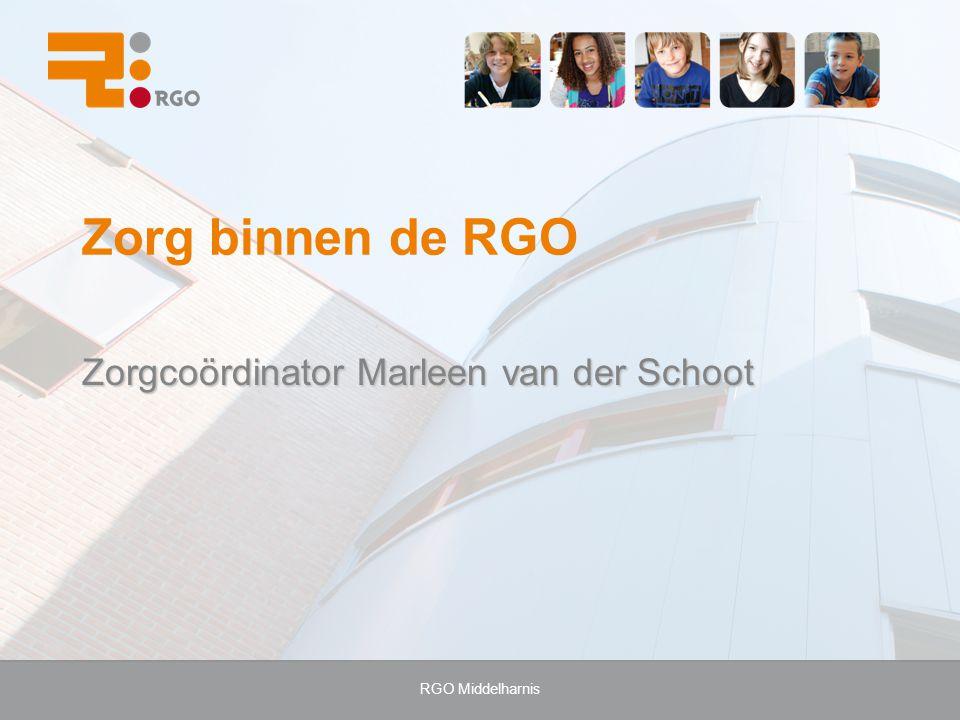 Zorgcoördinator Marleen van der Schoot