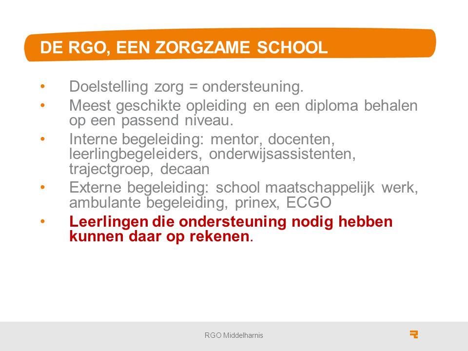 DE RGO, EEN ZORGZAME SCHOOL