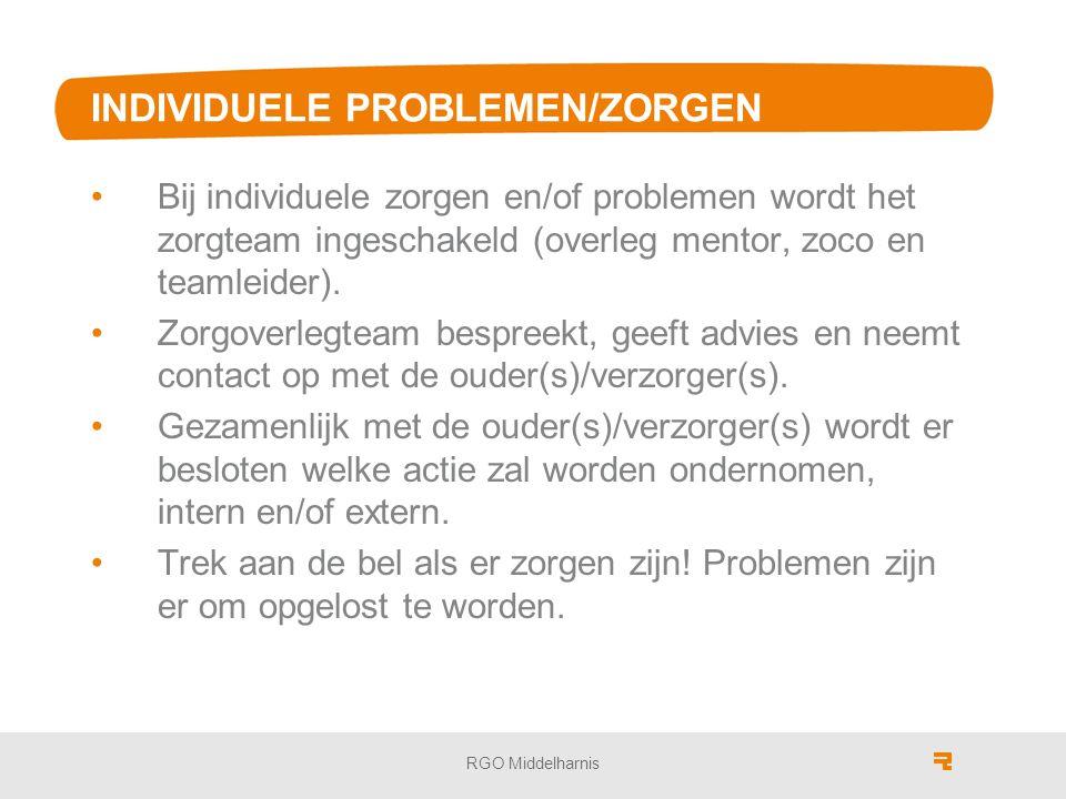 INDIVIDUELE PROBLEMEN/ZORGEN