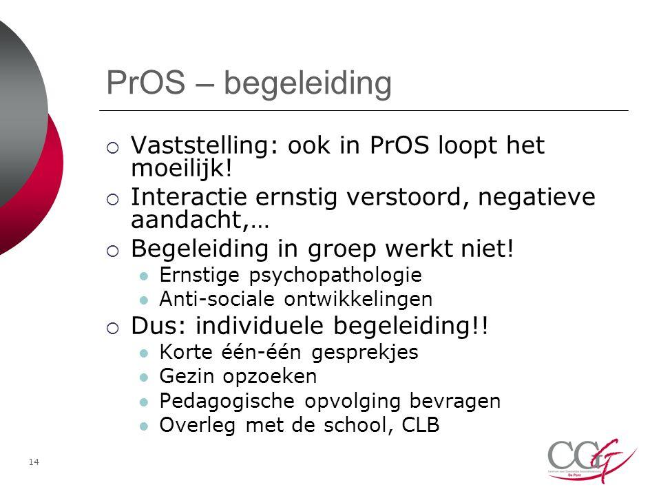 PrOS – begeleiding Vaststelling: ook in PrOS loopt het moeilijk!