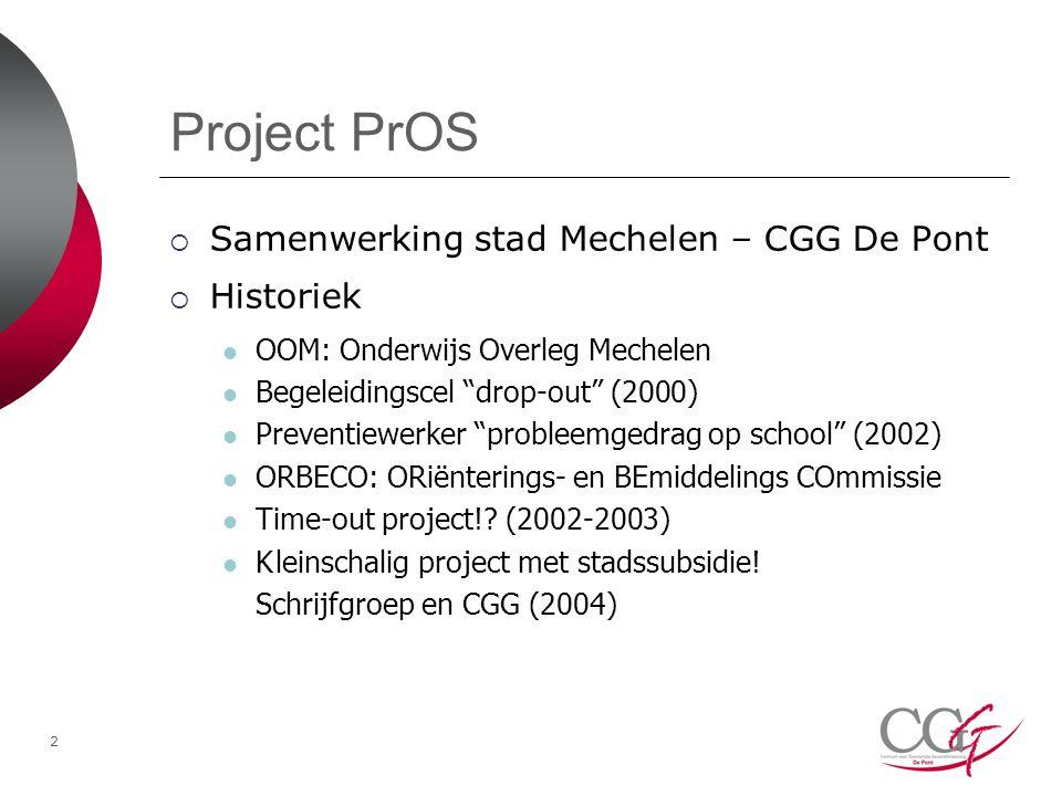 Project PrOS Samenwerking stad Mechelen – CGG De Pont Historiek