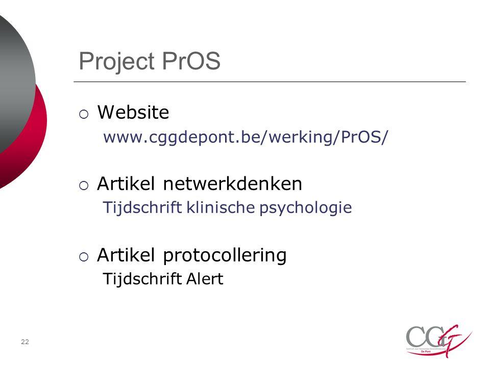 Project PrOS Website Artikel netwerkdenken Artikel protocollering