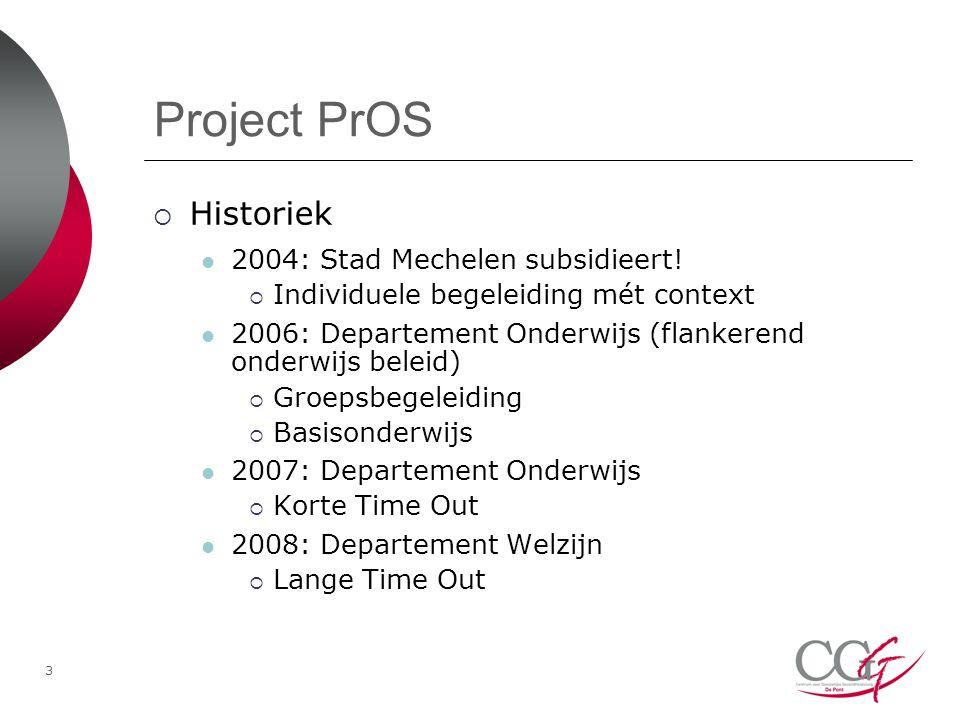 Project PrOS Historiek 2004: Stad Mechelen subsidieert!