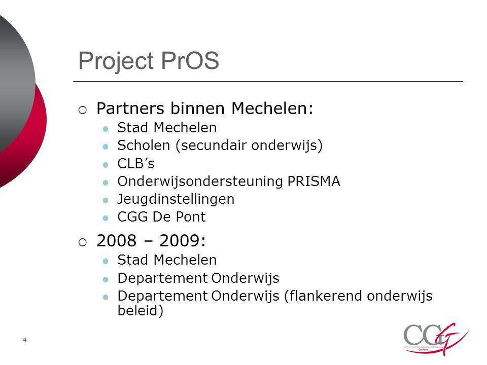 Project PrOS Partners binnen Mechelen: 2008 – 2009: Stad Mechelen