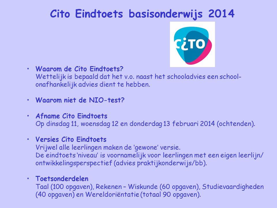 Cito Eindtoets basisonderwijs 2014