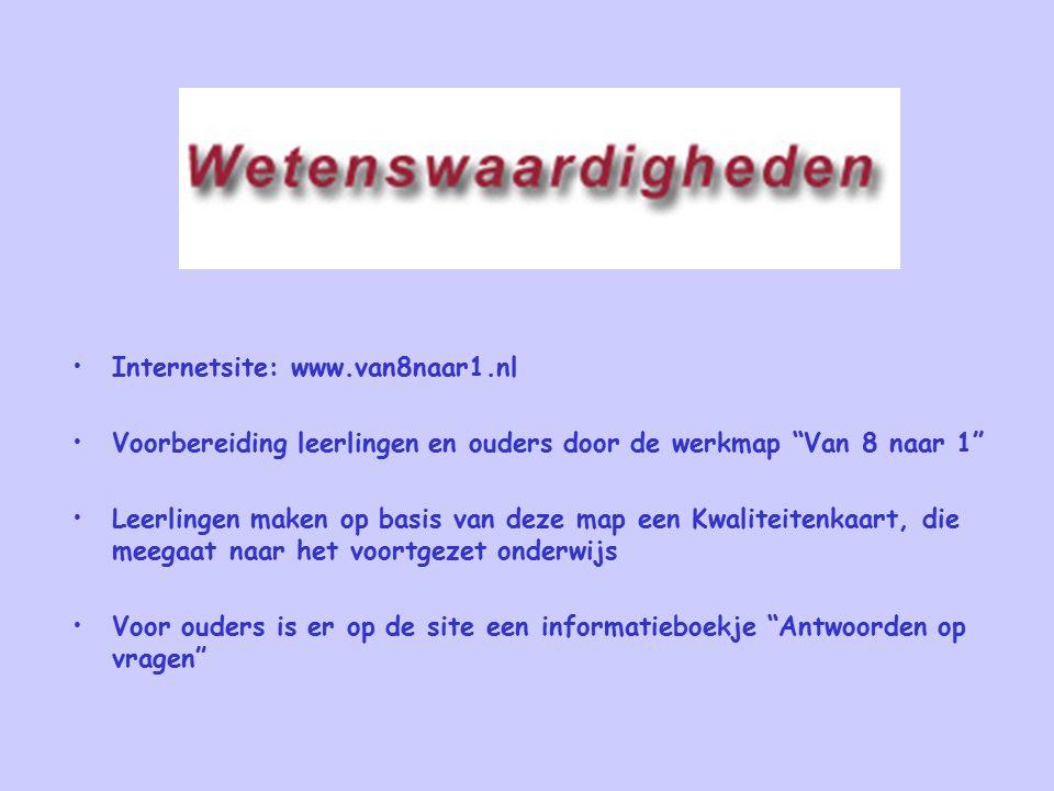 Internetsite: www.van8naar1.nl