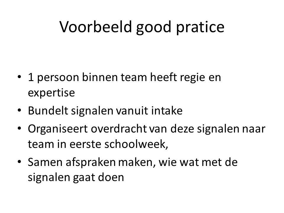 Voorbeeld good pratice