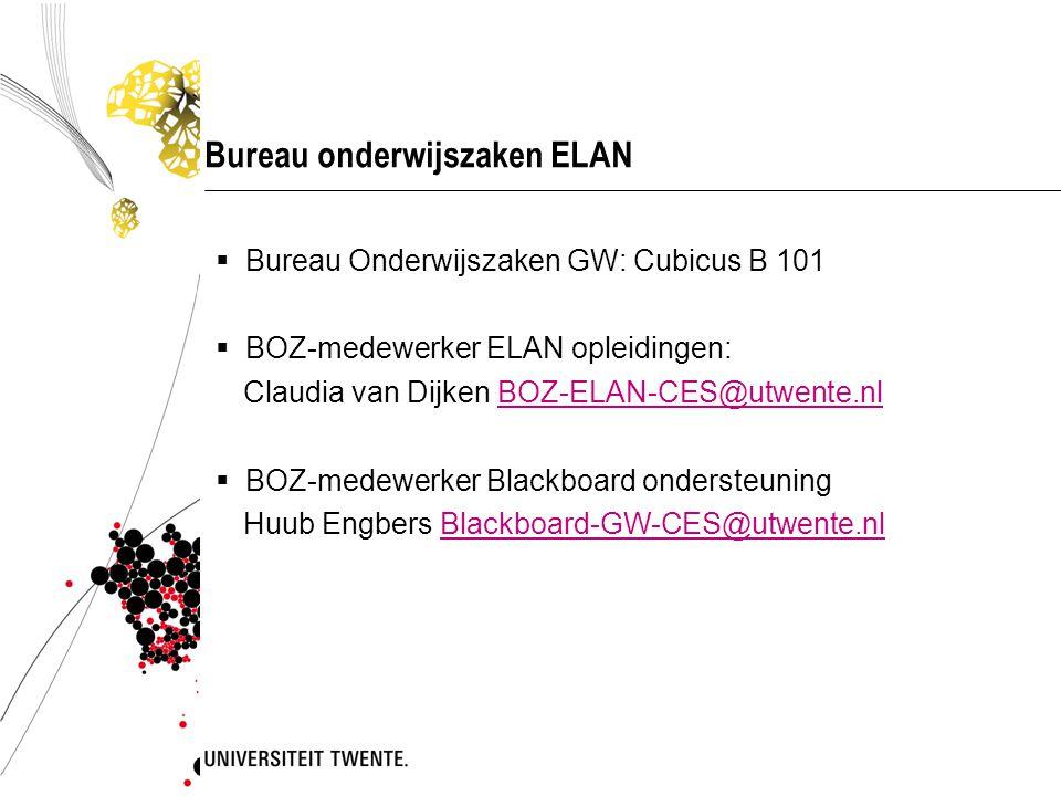 Bureau onderwijszaken ELAN
