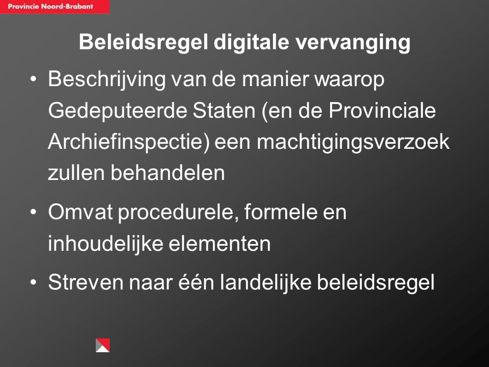 Beleidsregel digitale vervanging